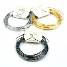 Set, Bratara Fixa si Cercei cu Model Delicat - Set bijuterii handmade si fashion