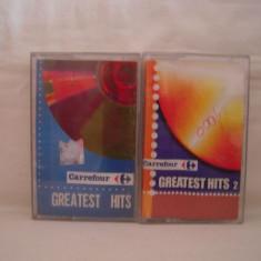 Vand set 2 casete audio Carrefour-Greatest Hits vol 1+vol 2, originale - Muzica Pop cat music
