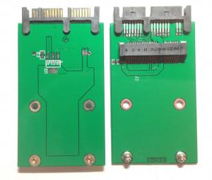 Adaptor convertor SSD mSATA - micro SATA (7+9 pini) mini SATA la micro SATA