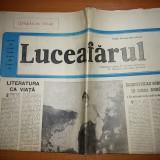 """Ziarul luceafarul 10 aprilie 1982 -art. """" inceputul scrisului in limba romana"""""""
