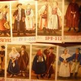 Set 16 Ilustrate Polonia, anii '50 Costume Populare, Spec.pt.Radiotelegrafie, color - Carte postala tematica