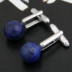 Butoni unisex  piatra semipretioasa pentru camasa, placati cu argint + cutie cadou + expediere gratuita Posta - sell by Phonica