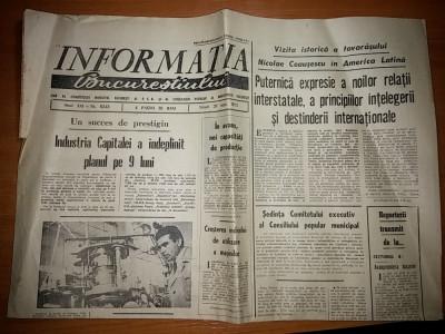 ziarul informatia bucurestiului 26 septembrie 1973- ceausescu in america latina foto