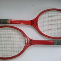 Lot 2 rachete de tenis fabricate la Reghin - JUNIOR, perioada anilor '80 ( UZATE ) - Racheta tenis de camp, Comerciala, Copii