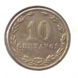 G4. ARGENTINA 10 CENTAVOS 1921, 3 g., Copper-Nickel, 19, 3 mm **, America Centrala si de Sud