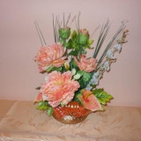 ORNAMENTE FLORI ARTIFICIALE - Vaza si suport flori