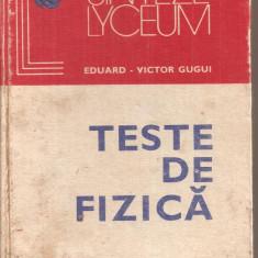 (C4753) TESTE DE FIZICA DE EDUARD-VICTOR GUGUI, EDITURA ALBATROS, 1980 - Carte Fizica