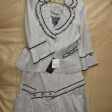 Costum dama, Marime: 36, Culoare: Bej, Costum cu fusta