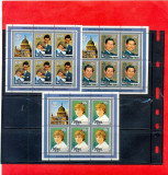 ST-133=NIUE 1982-Lot de timbre MNH,Kleinbogen cu timbre nestampilate,DIANA,MNH
