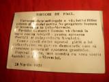 Fotografie veche a unui Manifest Comunist 1939