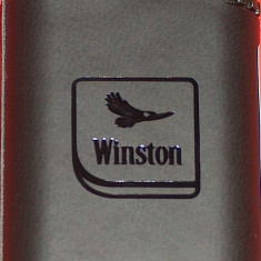 brichetă Winston, in piele, nouă