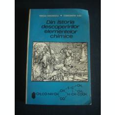 MIRCEA MIRONESCU * CONSTANTIN ALBU - DIN ISTORIA DESCOPERIRILOR ELEMENTELOR CHIMICE {1971}