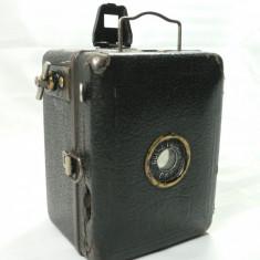 ZEISS IKON - GOERZ FRONTAR DRP ( BABY BOX ) - VECHI APARAT FOTO BOX MINIATURA - DIMENSIUNI LILIPUT 8 X 6 X 5 - FILM 4 X 6 1/2 - APARAT DE COLECTIE