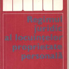 (C4814) REGIMUL JURIDIC AL LOCUINTELOR PROPRIETATE PERSONALA DE DORU COSMA, EDITURA STIINTIFICA, 1974 - Carte Drept penal