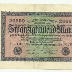 GERMANIA 20.000 MARCI MARK 1923 VF [6]