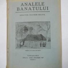 RARA CARTE BANAT- ANALELE BANATULUI, SERIA VECHE, TIMISOARA AN 2, 1929