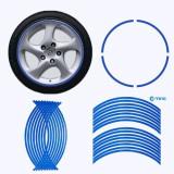 "Rim Stripe autocolat albastru  reflectorizant  jante 17"" auto sau motocicleta - expediere gratuita Posta si Fan Courier - sell by Phonic"