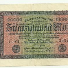 GERMANIA 20.000 MARCI MARK 1923 VF++ [3]