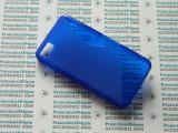 Husa protectie bumper gel TPU seria S-LINE BLACKBERRY Z10 !, Albastru