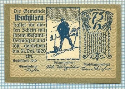 1848 BANCNOTA NOTGELD - AUSTRIA - 75 HELLER - anul 1920 -SERIA FARA -starea care se vede foto