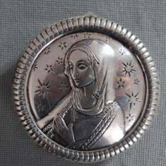 Icoana din argint pe suport de lemn - Guerrini-9 cm diametru