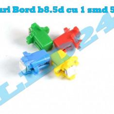 LED-URI AUTO BEC LED - B8.5d LED BORD alb , colorate, Universal, Houde
