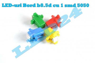 LED-URI AUTO BEC LED - B8.5d LED BORD alb , colorate foto