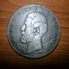 Moneda Argint 5 LEI 1883 Carol I - Moneda Romania