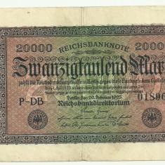 GERMANIA 20.000 MARCI MARK 1923 VF [7]
