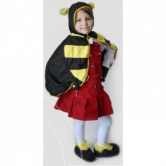 Costum Carnaval, serbare, aniversari, Albinuta pentru copii, Marime: Masura unica, Culoare: Negru