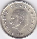 Moneda Turcia 50.000 Lire (50 Bin Lira) 1999 - KM#1056 UNC (luciu frumos)