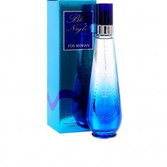 Blue Night, note citrice, ananas, miresme padure, miresme oceanice - Parfum femeie Davidoff, Apa de toaleta, 100 ml