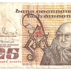 IRLANDA 5 LIRE POUNDS 1993 U