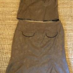 Costum dama, mas. 42, Culoare: Khaki, Costum cu fusta