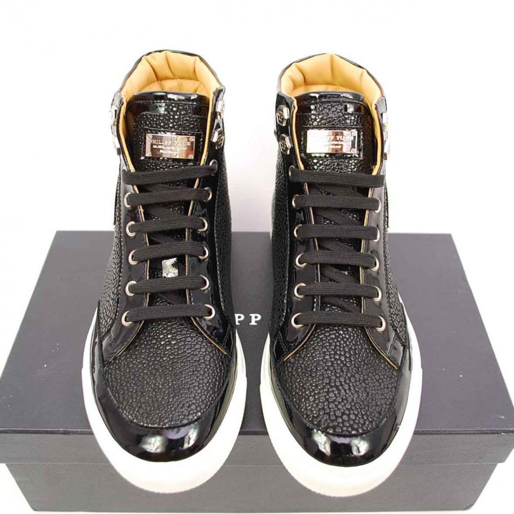 ultima reducere salvați pantofi cei mai buni Ghete/Adidasi Barbati PHILIPP PLEIN Hi-top Sneakers din Piele ...