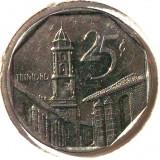 G4. CUBA 25 CENTAVOS 1994, Nickel Bonded Steel, 23 mm Trinidad UNC **, America Centrala si de Sud