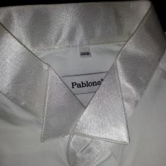 Vand Camasa de nunta marimea 45-46, marca Pablone, 60% bumbac, guler si manşete satinate ( cod produs 012) - Camasa cu nasturi