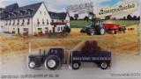 Cumpara ieftin 663.Set macheta tractor si remorca + 3 machete Ford T scara 1:64
