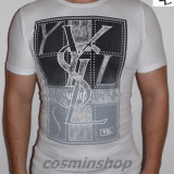 Tricouri YVES SAINT LAURENT - Model NOU - Slim Fit - Alb / Bleumarin / Gri !!!