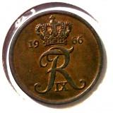 G4. DANEMARCA 5 ORE 1966, 6 g., Bronze, 24 mm Frederik IX **, Europa