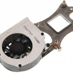 Cooler ventilator cu radiator laptop Fujitsu Amilo Pro V1000, ATBY271D100, FORCECON DC 5V 0.27A, DFB400805M90T, F265-5100-CCW