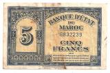 MAROC 5 FRANCI 1943 U