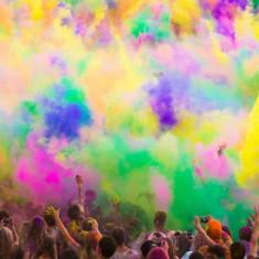Pudra Colorata HOLI - Gulal - Holi Party - Color Run - 1 x plic 75gr
