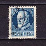 Timbre BAYERN 1914/* 97 (I)B = KQNIG LUDWIG III Dant. 14X14, 1/2, Wz.4, STAMPILATE