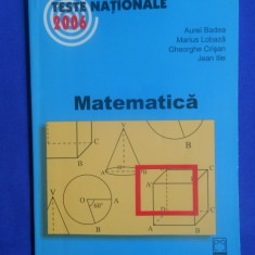 MATEMATICA - TESTE NATIONALE 2006 - Carte Teste Nationale