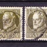 Timbre BAYERN 1914/* 100 (I) = KQNIG LUDWIG III Dant. 14X14, 1/2, Wz.4, STAMPILATE