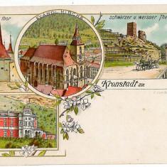 2121 - Litho, BRASOV - old postcard - unused - Carte Postala Transilvania pana la 1904, Necirculata, Printata
