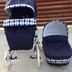 Set Carucior INGLESINA VITTORIA bleu marin - Carucior copii 3 in 1 Inglesina, 1-3 ani, Pliabil, Albastru, Maner reversibil