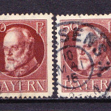 Timbre BAYERN 1914/* 101 (I) = KQNIG LUDWIG III Dant. 14X14, 1/2, Wz.4, STAMPILATE