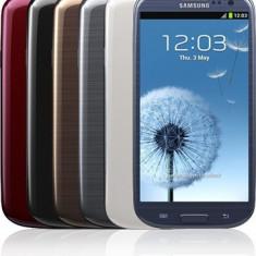 Oferta!!!Galaxy S3, 32 GB, albastru Impecabil, Samsung Galaxy S3 Mettalic Blue + Flip Cover (Mettalic Blue) - Telefon mobil Samsung Galaxy S3, Neblocat, Quad core, 1 GB